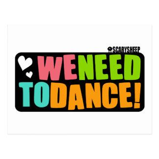 We Need to Dance Postcard
