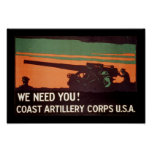 We Need You! Coast Artillery Corps Posters