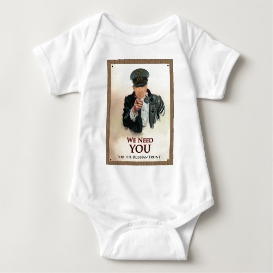We Need You WW2 German Poster Baby Bodysuit