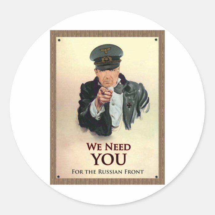We Need You WW2 German Poster Classic Round Sticker