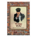 We Need You WW2 German Poster Print