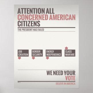 We Need Your Vote Print