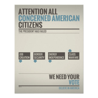 We Need Your Vote Poster