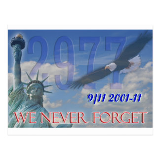 We never forget postcard 10th anniversary 9/11