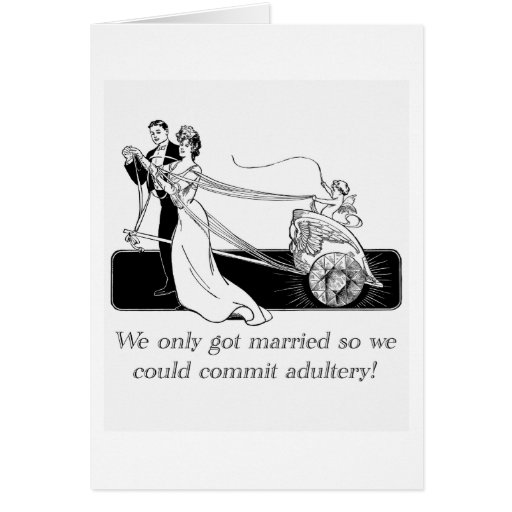 We only got married... card