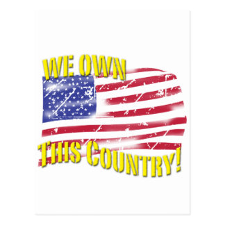 We own this Country! patriotic design Postcard