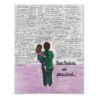 We Persisted (Parents of children w/disabilities) Poster