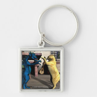 We Play? Premium Square Keychain