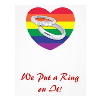 We Put a Ring on It Gay Wedding Customized Letterhead