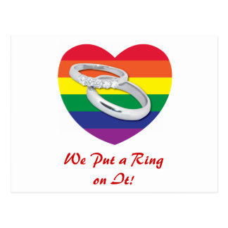 We Put a Ring on It Gay Wedding Postcards