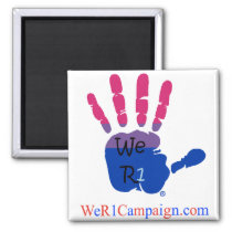We R1 Bisexual Hand Magnet