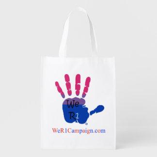 We R1 (Bisexual Hand), Reusable Shopping Bag Grocery Bag