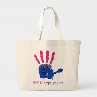 We R1 (Bisexual Hand) Tote Bag