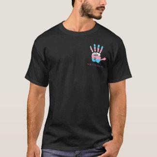 We R1 Corner and Back Transgender Logo T-Shirt