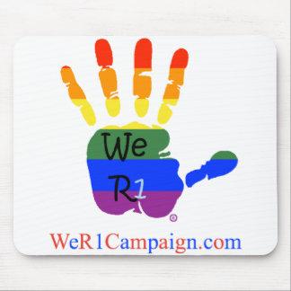 We R1 Rainbow Hand Mouse Pad