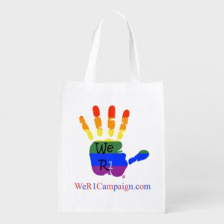 We R1 (Rainbow Hand), Reusable Shopping Bag Reusable Grocery Bag