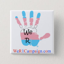 We R1 Transgender Hand Button