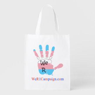 We R1 (Transgender Hand), Reusable Shopping Bag Market Tote