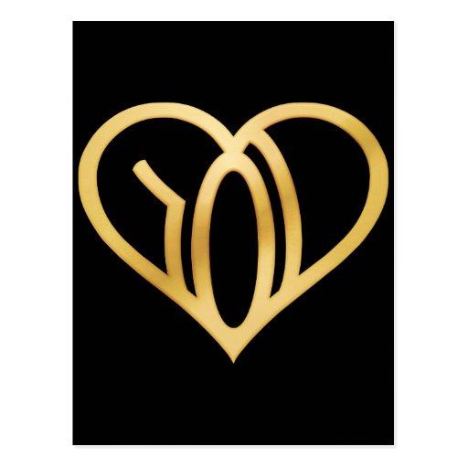 we r love logo applied heart postcard zazzle