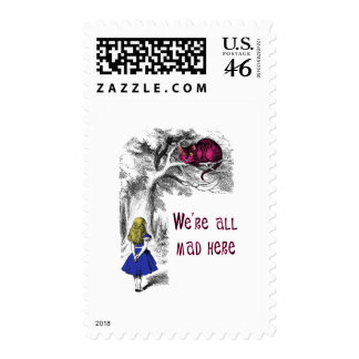 We re All Mad Here Postage Stamps