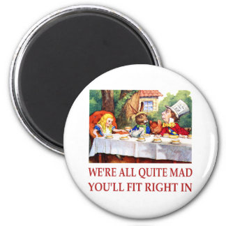 WE RE ALL QUITE MAD YOU LL FIT RIGHT IN FRIDGE MAGNETS