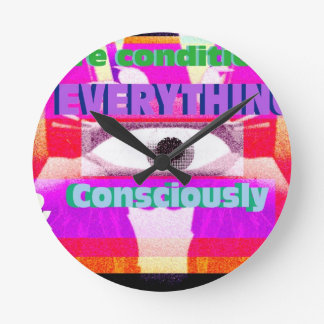 We re conditioned by everything consciously round wall clocks