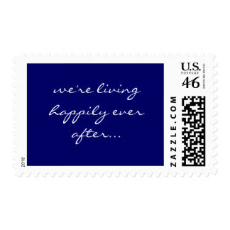 we re living happily ever after stamp