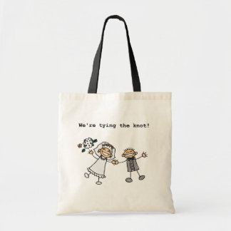 We re Tying the Knot Canvas Bags
