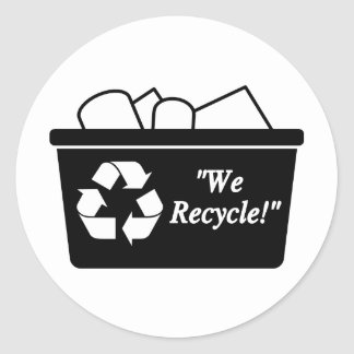 We Recycle Classic Round Sticker