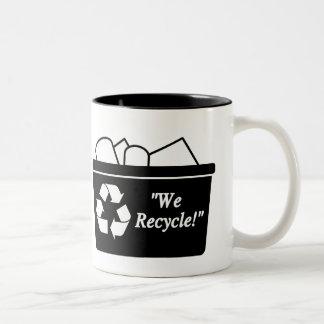 We Recycle Two-Tone Coffee Mug