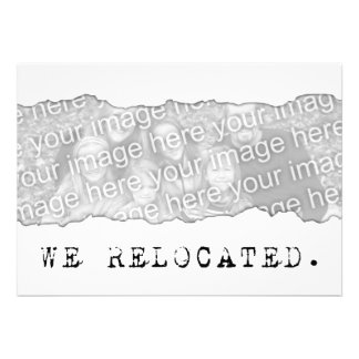 we relocated. (page tear) card
