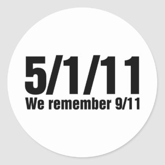 We Remember 9/11 Classic Round Sticker