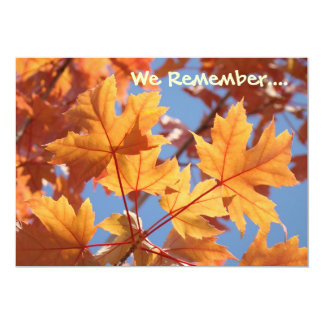 We Remember Cards Night of Remembrance Invitations