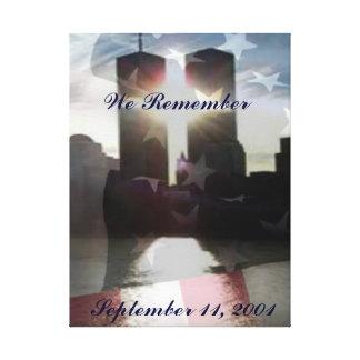 We Remember September 11th Canvas Art