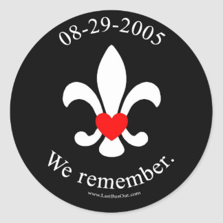 We remember round stickers