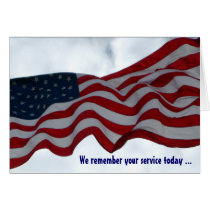 We Remember Your Service Veterans Day Card