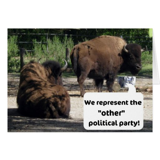 """We represent the """"other"""" political party! greeting card"""