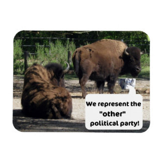 "We represent the ""other"" political party! rectangular photo magnet"