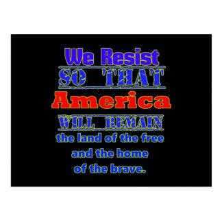 We Resist for America Postcard