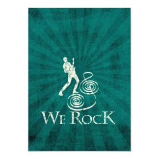 We Rock Invitacion Personalizada