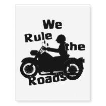 We Rule the Roads (Biker) Temporary Tattoos