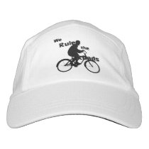 We Rule the Roads Cyclist Performance Hat, White Hat