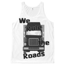 We Rule the Roads Semi All-Over Print Tank Top