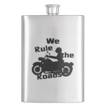 We Rule the World Biker Classic Flask