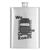 We Rule the World Trucker (black) Classic Flask