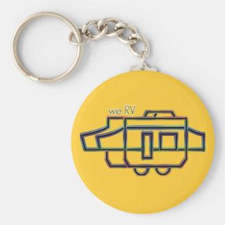 we RV Basic Round Button Keychain