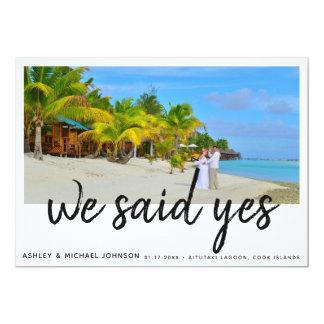 We Said Yes | 4 Photo Wedding Announcement