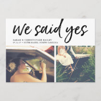 We Said Yes | Photo Wedding Announcement
