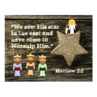 We Saw His Star, Bible Verse Christmas Postcard