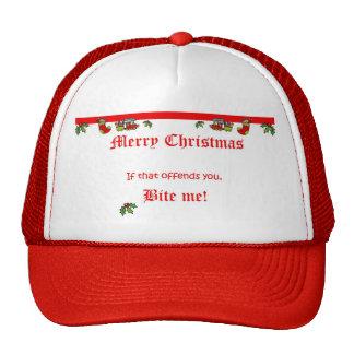 We say MERRY CHRISTMAS! Trucker Hat